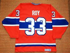 Montreal Canadiens, #33 Patrick Roy, 1993 Vintage NHL CCM Jersey, Mens Large