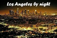 SOUVENIR FRIDGE MAGNET of LOS ANGELES BY NIGHT