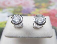 1 Paar Diamant Ohrstecker 585 Weiss Gold im Brillantschliff  0,06 ct TW-Si