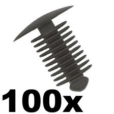 100x Fir Tree Spruce or Button Plastic Trim Panel Clips- 9-10mm Hole- 18mm Head