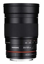 Samyang 135mm F2.0 ED UMC Aspherical Telephoto Full Frame Lens for Nikon AE DSLR
