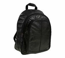 New Ladies Womens Quality Soft Leather Backpack Rucksack Handbag Black 1958