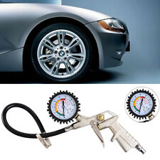 Car Motorcycle Tyre Tire Air Pressure Gauge Dial Meter Compressor Inflator Tool