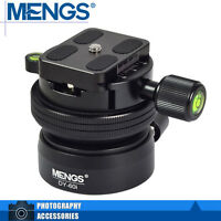 "MENGS DY-60i 1/4"" And 3/8"" Tripod Screw Camera Ball Head w/ Clamp + Quick Plate"