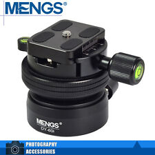 """MENGS DY-60i 1/4"""" And 3/8"""" Tripod Screw Camera Ball Head w/ Clamp + Quick Plate"""