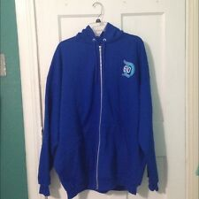New Disneyland 60th Anniversary D60 Blue Unisex Jacket Adult ZipUp Hoodie XL