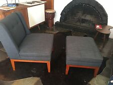 Freedom furniture armchair and footrest set