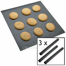 3 x UNIVERSAL Teflon Coated Non Stick Extra Large Baking Oven Sheet Mat Liner