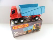 Matchbox Superfast 50b Articulated Dump Truck - RED & BLUE - Mint/Boxed