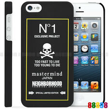 NEIGHBORHOOD x mastermind JAPAN N°1 EXCLUSIVE PROJECT PHONE CASE FOR iPhone 5S 5