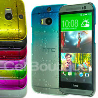 Ultra Slim Raindrop Crystal Hard Back Case Cover For The HTC One M8 + SCREEN
