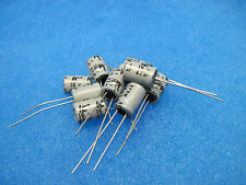 (10) ILLINOIS CAPACITOR Radial Electrolytic Audio Caps: 47uF 16V (Non-Polar)