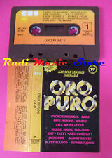MC ORO PURO 5 compilation GEORGE MICHAEL SADE JACKSONS WHAM! no cd lp dvd vhs**