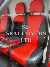 TO FIT A CITROEN RELAY VAN SEAT COVERS - LPG MODEL, POPPY RED LEATHERETTE
