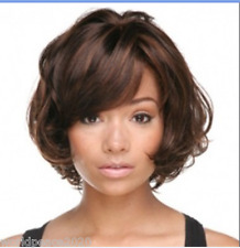 """Cos women""""s  brown mix  short straight cosplay full wig  + gift"""