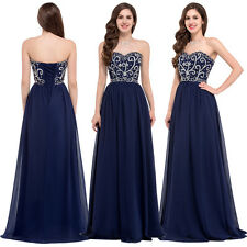 2016 CHEAPEST  Chiffon Ball Gown Evening Prom Party Evening Dresses Navy Blue 14