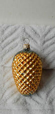 """Vintage Glass Christmas Ornament Pineapple Fruit Sign of Hospitality Germany 4"""""""