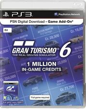 PLAYSTATION 3 * GRAN TURISMO 6  * 2.5 Million In Game Credits EU Code * PS3