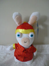 RABBIDS - Chinese Rabbid w Red Jacket Plush Soft Toy 22cm BNWT NEW Hard To Find