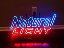 """New Natural Light Beer Real Glass Neon Sign 17""""x14"""""""