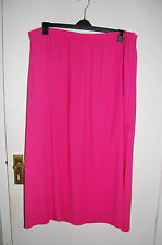 Pink Lined Long Chiffon Skirt Half Elastic Waist M&S Size 22 Length 39 BNWT