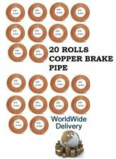 20 X ROLLS COPPER PIPE 3/16 BRAKE PIPE BRAKE FLUID LINE PIPE 25 FEET LONG