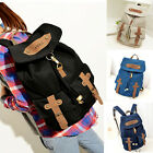 New Women's Vintage Canvas Satchel Backpack Rucksack Shoulder School Bag