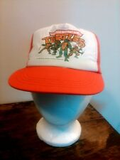 Vtg 1990 NOS Tag Teenage Mutant Ninja Turtle Youth Flat Bill Snap Back Trucker's