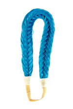 """1"""" Wide Fishtail Braided Turquoise Blue Elastic Headband Wig Cosplay Accessory"""