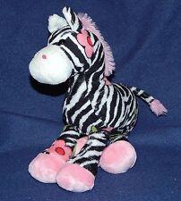 "9"" Douglas Cuddle Toys Black & White Pink Flowers GABRIELLA Fuzzles Plush Zebra"