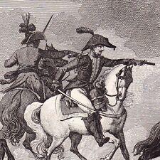 Gravure 1825 Colonel Louis Bertèche Napoléon Bonaparte Empire Sedan Ardennes