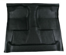 Black Vinyl Floor Mat - replaces carpet 1987-1997 Ford F250 ext cab auto 4WD