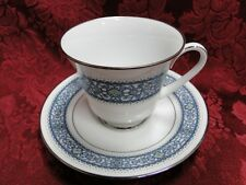 Noritake LaRue, 6913, Blue Scroll Band: Cup & Saucer Set (s)