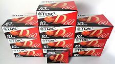 tdk d-60 normal position, cassette, 100 pezzi! new factory saled, in box!
