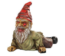 HORROR GARDEN CRAWLING GNOME PEELING EYE UNDEAD ZOMBIE STATUE OUTDOOR SCULPTURE