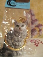 MAINE COON SILVER ~  cat key chain  great gift