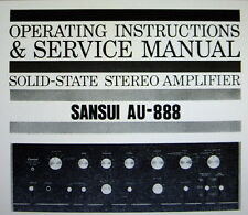 Sansui AU-888 ss st amp operating instructions et service manual bound anglais