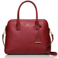 NWT Kate Spade Margot Train Car Red Saffiano Leather Satchel Purse Bag Cameron