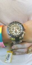 Invicta 0329 Arsenal Reserve Chronograph Stainless Steel and Black 53 MM- Huge!