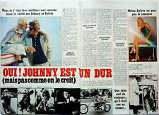 SYLVIE VARTAN_JOHNNY HALLYDAY: coupure de presse 2 pages 1976 /  FRENCH CLIPPING