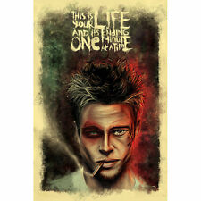 Fight Club Brad Pitt Classic Movie Art Silk Poster 24x36inch