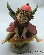 Garden Fairy Mushroom Figurine Fruit Hat Ganz Fairy Wings Fantasy Flower Plant N
