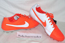 Nike Tiempo Legend V AG -SIZE 12.5 -NEW- 599843-690 Red Orange Crimson ACC White