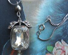 Splendide collier ancien Art Déco argent marcassites brillant