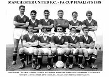 MANCHESTER UNITED TEAM PRINT 1958 - F.A.CUP FINALISTS