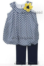 D'LISH 5 - 6 yrs old Navy Blue Polka Bubble Legging Girls Set Casual ~ New