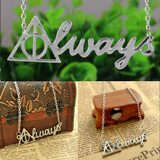 Fine Deathly Hallows Necklace Movie New Silver Triangle Letter Pendant Necklace