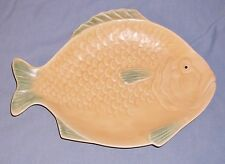 Fish Serving Tray Platter Shorter & Son Stoke-On-Trent England Yellow