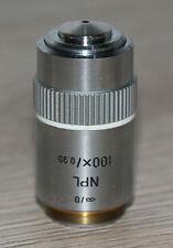 LEITZ MICROSCOPIO Microscope obiettivamente NPL 100x/0,90