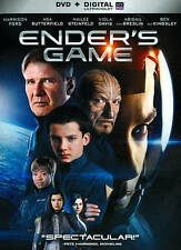Ender's Game - Harrison Ford Asa Butterfield (DVD, 2014) FS No Digital FAST SHIP